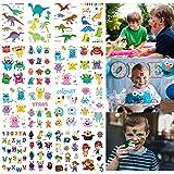 Tatuajes Temporales Para Niños, MMTX 200pcs Monstruo Pirata Dinosaurio Tatuaje Falso Pegatinas Perfecto Para Niños infantiles fiesta de cumpleaños regalo Bolsas Relleno (15 Hojas)