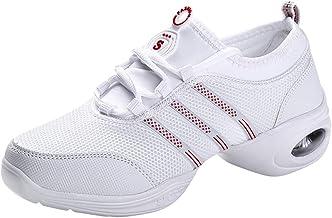 Chaussures De Danse Femmes - Pratique Mesh Fendu Semelle Lacent Teaching Baskets Femme Chaussures De Sport Confortable Lat...