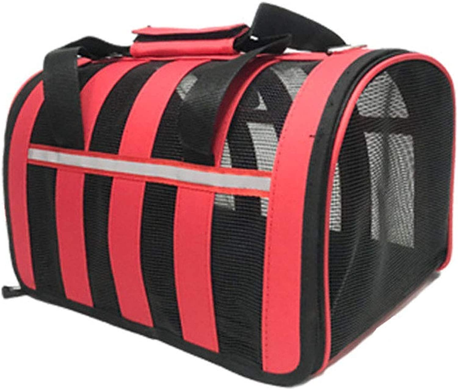 Pet Travel Carrier Pet Travling Bags Dog Cat Carrier Sling Hands Free Pet Puppy Outdoor Bag Tote Ourtdoor Pet Bag (color   RED, Size   M)