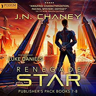 Renegade Star: Publisher's Pack 4     Renegade Star, Book 7-8              Auteur(s):                                                                                                                                 JN Chaney                               Narrateur(s):                                                                                                                                 Luke Daniels                      Durée: 8 h et 58 min     3 évaluations     Au global 4,7