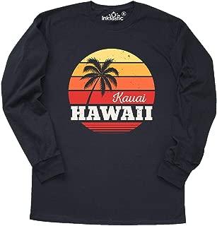 inktastic Kauai Hawaii Retro Sunset Long Sleeve T-Shirt