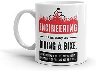 Funny Engineer Mug: Engineering Is Easy - White Coffee Mug