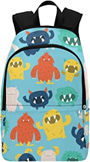 Custom Cute Furry Monsters Casual Backpack School Bag Travel Daypack Gift Fits Adult,Teenager,Girls