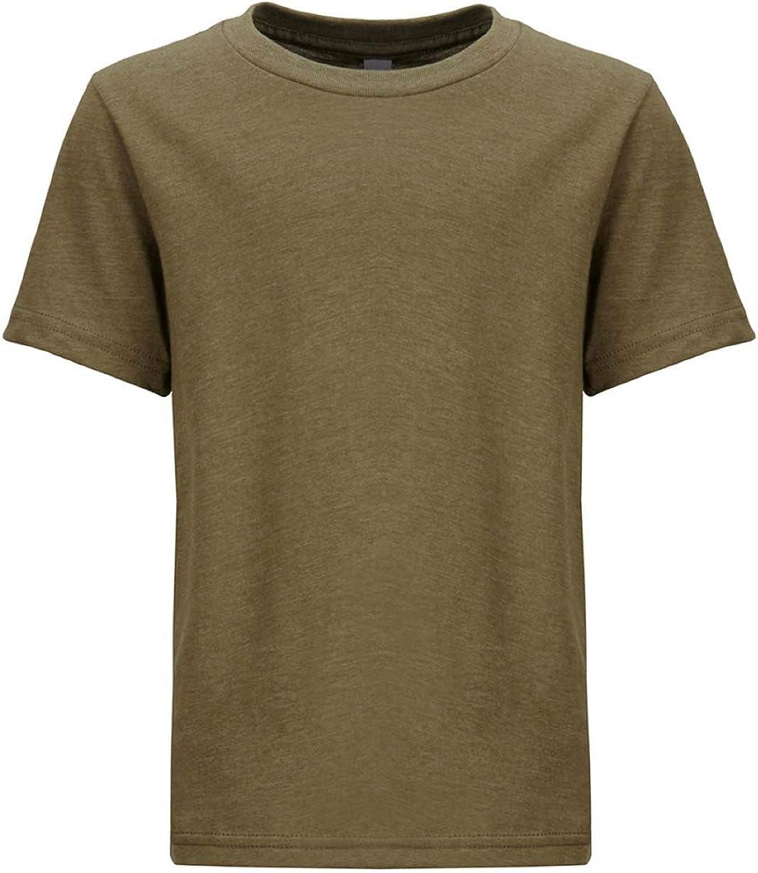 Next Level Kids CVC Crew Neck T-Shirt Military Green S