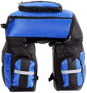 LJOUFFF Bolso de la bicicleta, de gran capacidad camello bolso de la bici de montaña bolsa trasera posterior de la bicicleta Estante doble cruz bolsa Riding Equipment / azul / rojo / verde Accesorios