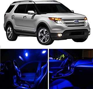 SCITOO LED Interior Lights 11pcs Blue Package Kit Accessories Replacement Fits for 2006-2010 Ford Explorer