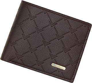 BeniNew men's wallet short casual wallet-dark brown