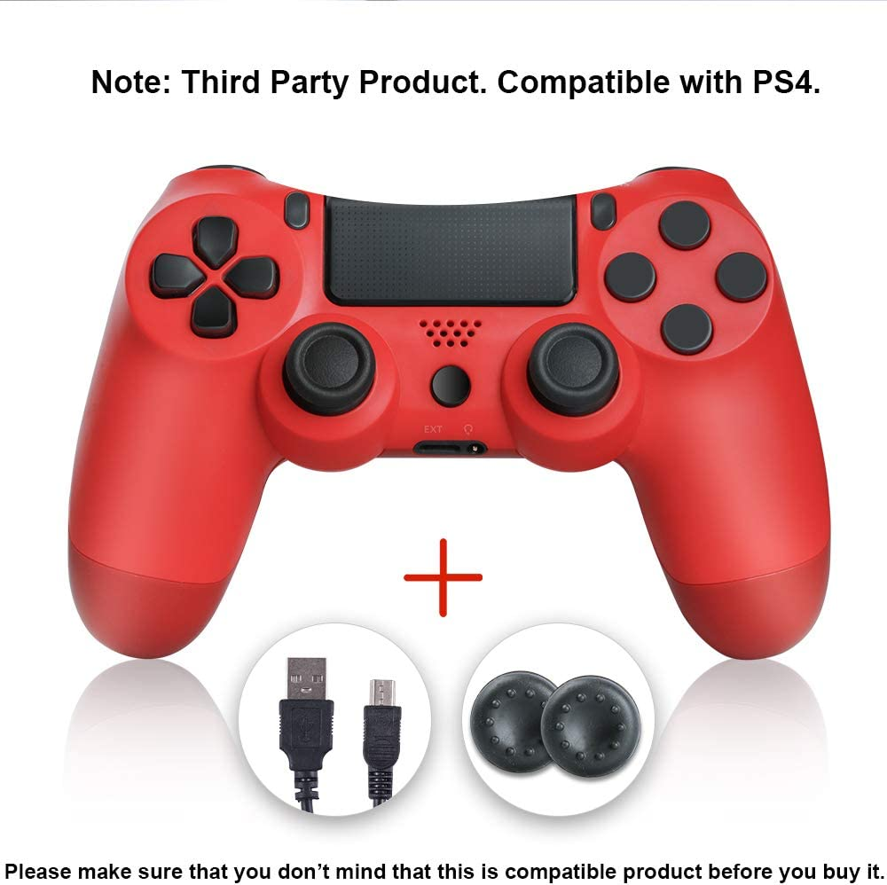 shineled Mando PS4, PS4 Controller, Controlador PS4, Mando Inalámbrico Gamepad Compatible con Playstation 4 (Rojo): Amazon.es: Electrónica