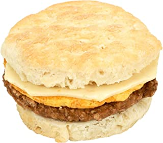Jimmy Dean Blazin Hot Sausage Egg and Cheese Pepperjack Biscuit Sandwich, 5 Ounce -- 12 per case.