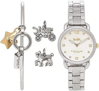 Delancey Gift Set Quartz Movement Silver Dial Ladies Watch 14000055