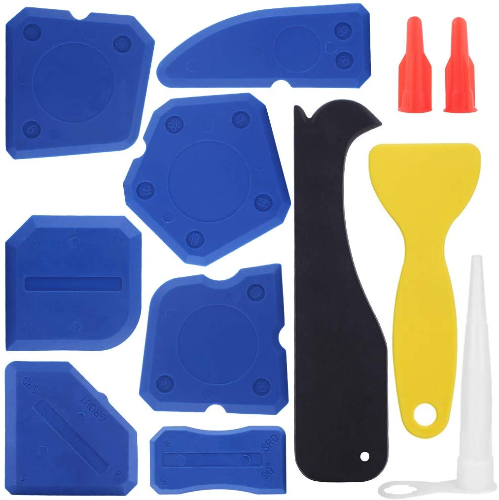 Caulking Tool 12 Pieces 1 year warranty Silicone Grout Sealant Tools Finishing It is very popular
