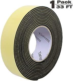 Tintvent Foam Insulation Tape Adhesive,EVA Sponge Tape Foam Rubber Seal, Doors, Weatherstrip, Waterproof, Plumbing, HVAC, Windows, Pipes, Cooling, Air Conditioning, Weather Stripping, Craft Tape