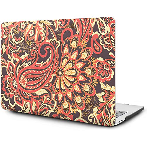 OneGET MacBook Pro 13 Inch Case with Touch Bar Laptop Case MacBook Pro 13 Inch 2016-2019 Release A2159 A1989 A1706 A1708 MacBook Pro Cover for MacBook Pro 13 Inches Hard Shell Flowers (F43)