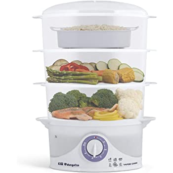 Orbegozo CO 4000 COCEDOR AL Vapor CO4000, 400 W, Color blanco: Orbegozo: Amazon.es: Hogar