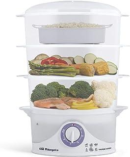 comprar comparacion Orbegozo CO 4015 - Vaporera eléctrica, libre de BPA, 3 recipientes apilables incluyendo uno especial para arroz, temporiza...