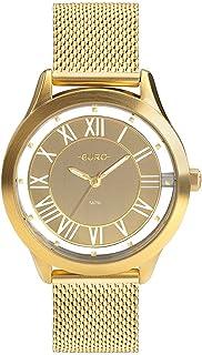 Relógio, Analógico, EURO, EU2039JH/4X, feminino, Ouro