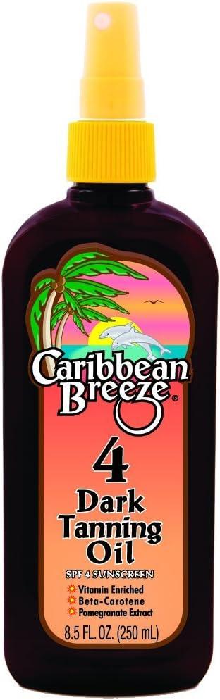 Caribbean Breeze SPF Fashion 4 Dark Tanning Oil oz 250 8.5 Virginia Beach Mall ml
