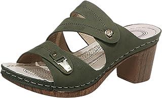 Escarpins Femme Talon Haut Semelle Douce Légère Chukka Escarpins Claquettes Shoes Sandal Slipper Boot Simple Beau été Resp...