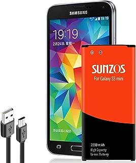 Galaxy S5 Mini Battery, SUNZOS 2200mAh Li-ion Replacement Battery for Samsung Galaxy S5 Mini (Compatible with All Galaxy S5 Mini Models) - EB-BG800BBE/EB-BG800BBU[3 Years Warranty]