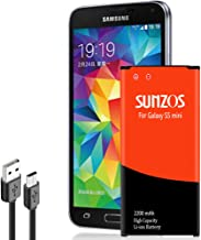 Galaxy S5 Mini Battery, SUNZOS 2200mAh Li-ion Replacement Battery for Samsung Galaxy S5..