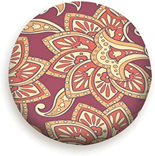AndrewTop Floral Oriental Ethnic Damask Vintage Tire Cover Polyester Universal Spare Wheel Tire Cover Wheel Covers (14,15,16,17 Inch)