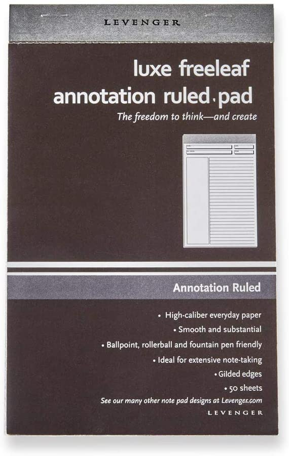 OFFicial store Levenger Luxe Freeleaf Annotation Ruled 5 JNR Fort Worth Mall Pads Silver