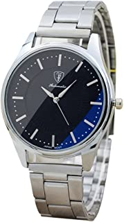 Clearance! Charberry Mens Solar Shield Steel Watch Stainless Steel Sport Quartz Watch