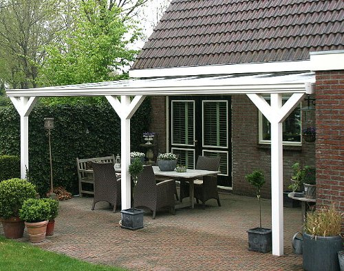 Aylux, aluminium terrasoverkapping, keuze uit 3 kleuren, montageklaar, overkapping, luifel, overkapping, aluminium terras