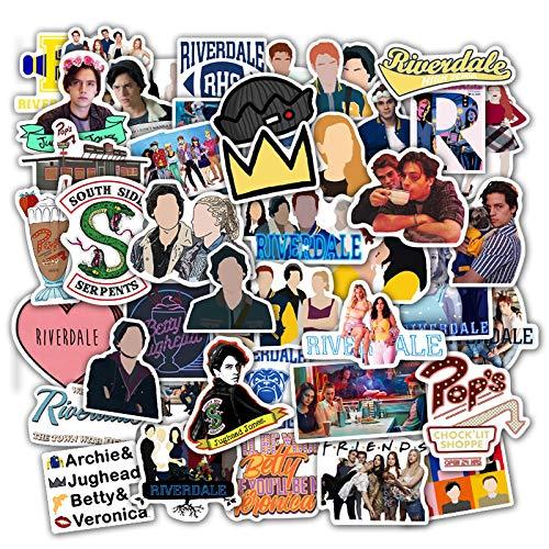 50Pcs Riverdale Stickers for Laptop Skateboard Guitar Car Water Bottle Vinyl Sticker DIY Children Kids Toy Decal