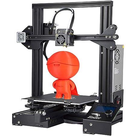 Imprimante 3D Creality Ender 3 Entièrement Open Source avec impression de CV Imprimantes DIY FDM à cadre métallique avec fonction d'impression de CV 220x220x250mm
