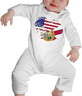 Baby Girl Coverall Swedish American Flag Hearts Love Kid Pajamas