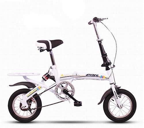 TD 12 16 Zoll Faltbare fürrad fürrad Licht Mini Tragbare Ultraleicht D fung Variable Geschwindigkeit Student Erwachsene Reiten Leicht Kein Raum (Farbe   Weiß Größe   16 inches)