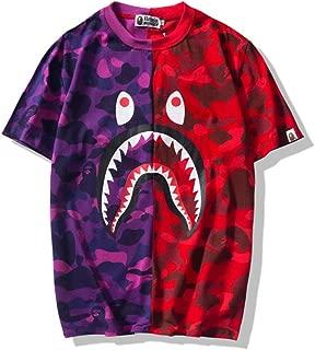Girls Mens Boy's Casual T Shirt Round Collar Crewneck T Shirt Sleeve Camo Tees
