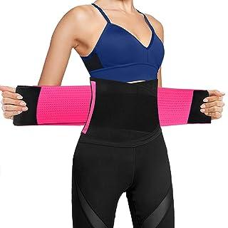 O RLY Faja Reductora Adelgazante para Hombre y Mujer Trimmer de Cintura Cinturón de Sudor,Cinturón de Fitness para acelerar la pérdida de Peso, Quema de Grasa, Efecto Sauna Rosa