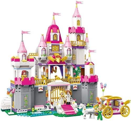 GLJJQMY Aufkl ngsstadtvilla Der Bausteine  lockiert 5-8 Jahre Altes mädchen, Das Spielzeugprinzessinhaus-Buchstabierburgmodell Zusammenbaut Lernspielzeug für Kinder