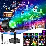 Halloween Christmas Projector LED Lights, Fxexblin 156 Modes Waterproof Projector Lamp Outdoor Indoor