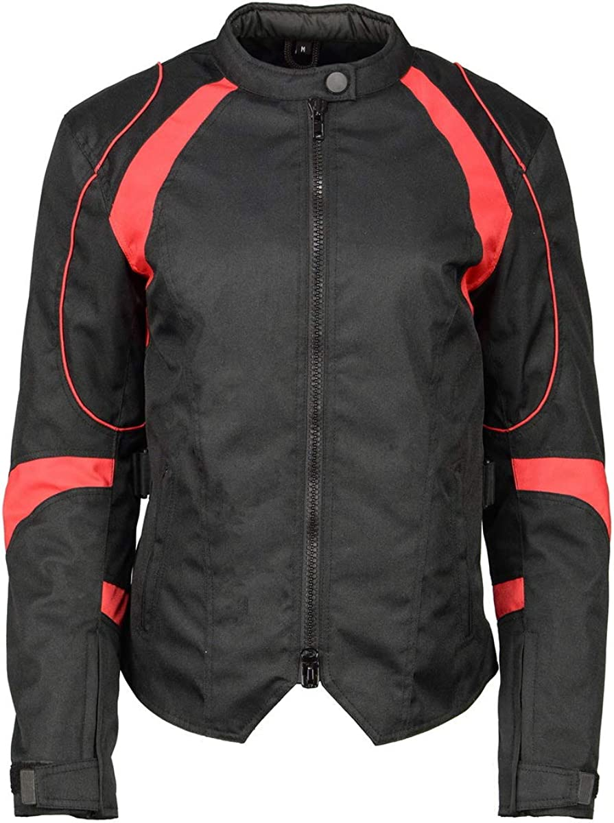 M Boss Japan's largest assortment Motorcycle Charlotte Mall Apparel BOS22706 Ladies Nylon Black Ra Red and