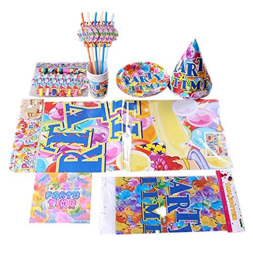 Fournitures de fête pack comprenant assiettes, chapeaux, etc pour 6 personnes