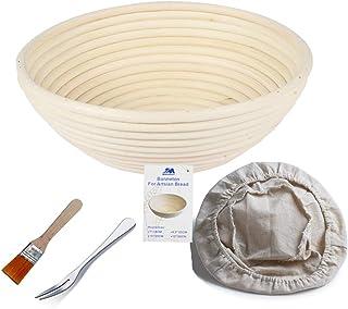Banneton rond L'Imperméabilité Panier 22 cm Banneton Brotform pâte pour pain et brosse sans [750g de pâte] l'Imperméabilit...