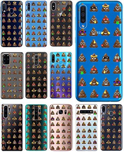 KX-Mobile Hülle für Samsung A41 Handyhülle Motiv 2611 Emojis Shit Scheißhaufen Premium Silikonhülle durchsichtig mit Bild SchutzHülle Softcase HandyCover Handyhülle für Samsung Galaxy A41 Hülle
