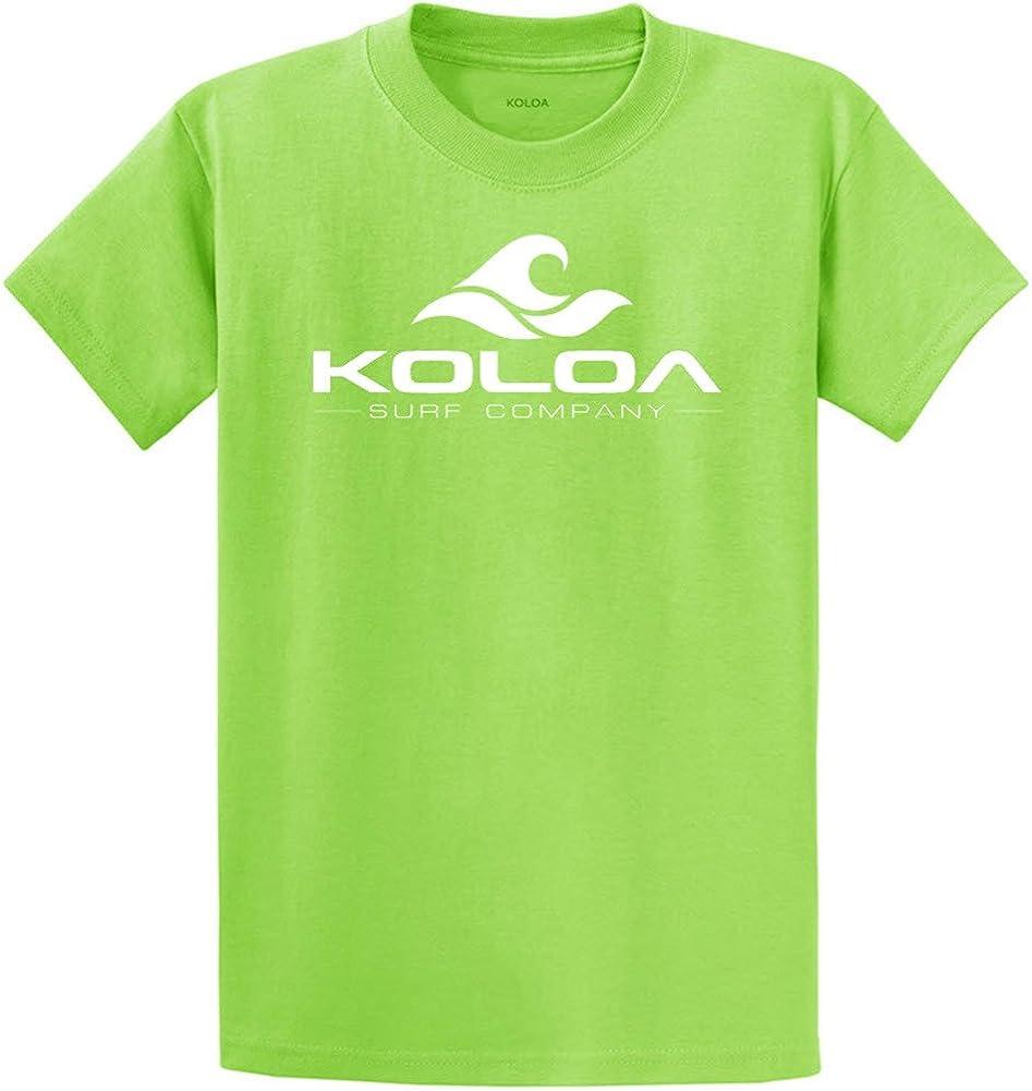 Koloa Surf Co. Wave Logo Cotton T-Shirts 2X-Large Tall -2XLT,Lime/w