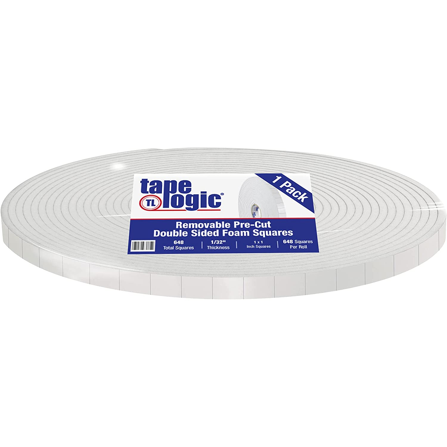 Aviditi Tape Logic Removable Double Sided Max 58% OFF Squares Foam 3 x 4 Jacksonville Mall