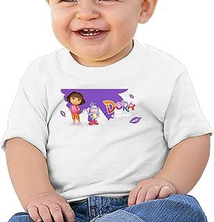 Boss-Seller Dora The Explorer Short Sleeve Tees For 6-24 Months Boys & Girls White