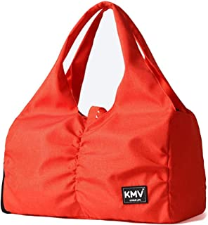 Women Yoga Bag,Weekend Travel Bag with Shoes Compartment and Wet Pocket (Color : Orange, Size : Large)