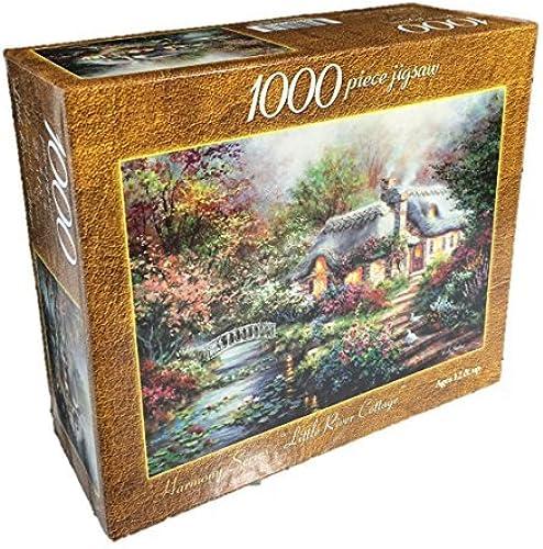 soporte minorista mayorista Harmony Series Little River River River Cottage 1000 Piece Jigsaw Puzzle Nicky Boehme by Nicky Boehme  oferta de tienda