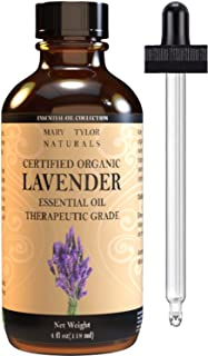 Lavender Essential Oil 4 oz, by Mary Tylor Naturals, Premium Therapeutic Grade, 100% Pure, Perfect for Aromatherapy, Relaxation, DIY Projects, Improved Mood and Much More.