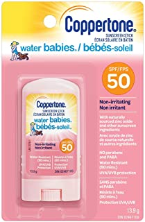 Coppertone Waterbabies SPF 50 Baby Sunscreen Stick, Gentle, Hypoallergenic Sunscreen for Babies, Lightweight and Non-Greas...