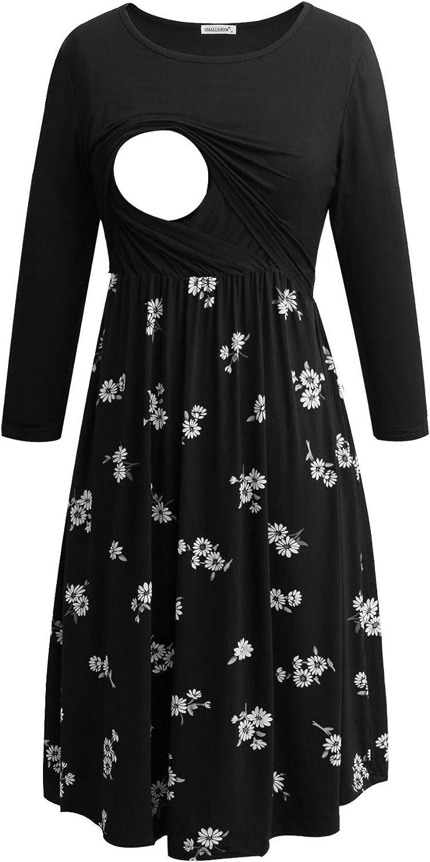 San Diego Mall Smallshow Women's Maternity Nursing Dress 4 Max 64% OFF for 3 Sleeve B