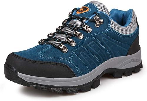 DANDANJIE Chaussures de randonnée pour Hommes Chaussures de Montagne Trekking Bottes de Plein air Chaussures de Marche d'extérieur adaptées aux Hommes