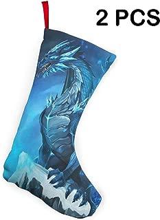 Cainy Medias de Navidad Blue Dragons 2019, Medias de puño de 10.2 Pulgadas, para decoración del hogar